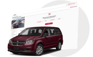 Van Driving Out Of Online Financing Page